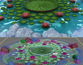 3D lily lake