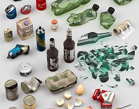 3D model Garbage trash