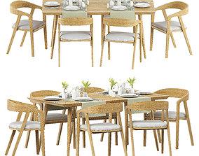 indoor TABLE SET 3D model