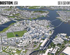 3D animated Boston