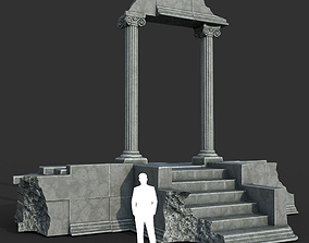 3D model Low poly Ancient Roman Ruin Construction 06 - 1