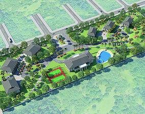 3D model MD dormitory 2 Option