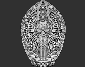 statue Kwanyin Bodhisattva 3D print model