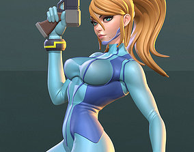 Samus Aran Zero Suit SFW and NSFW Figurine 3D Print Model