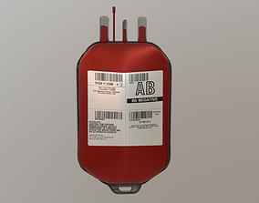 Blood Bag Game Ready 3D model