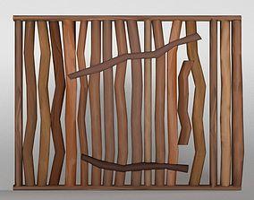 Wood wall 3D model