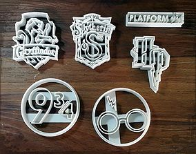 3D printable model Harry Potter cookie cutters