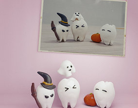 scans the Halloween of the teeths 3D print model