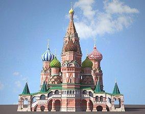 red Saint Basils Cathedral 3D model