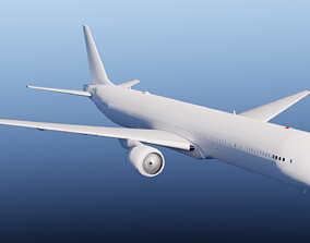 3D Boeing 777-300ER airport