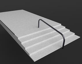3D model Ramp to Rail Stair Set