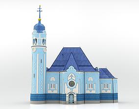 Blue church - Bratislava Slovakia 3D model