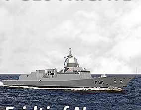 Royal Norwegian Navy Nansen Class Frigate 3D model