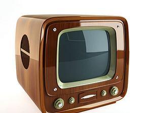 3D model Retro Wooden Tv