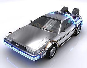 DeLorean Time Machine 3D asset