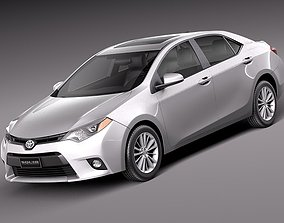 fbx 3D model Toyota Corolla LE 2014 USA