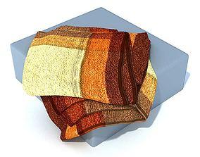 Brown Yellow Tan Colored Towels 3D model