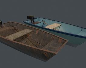 Metal boat PBR 3D model