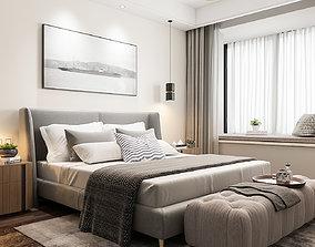 3D model interior vray Bedroom modern