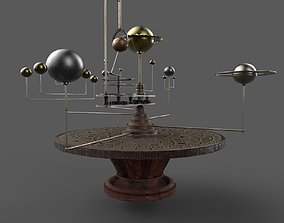 table with planets and star system PBR low-poly low-poly 1