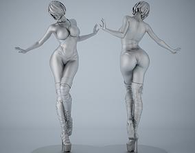 Woman sculpture desktop bauble 001 3D print model