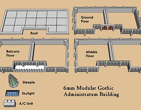 6mm or 8mm Modular Gothic Administratum 3D print model