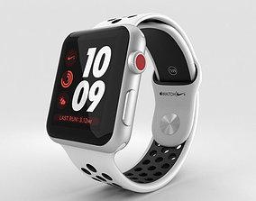 Apple Watch Nike 42mm GPS Silver Aluminum Pure Platinum 3D