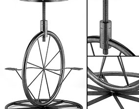 3D model Charles Bicycle Wheel Adjustable Bar Stool