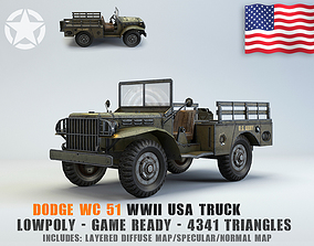 Low Poly Dodge WC Cargo Truck 3D model