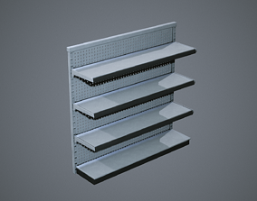 3D model Industrial Store Shelving Units