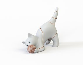 Kitty 3D model low-poly
