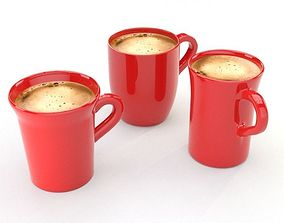 3D asset coffee cups