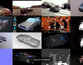 Car set vehicle 3D model
