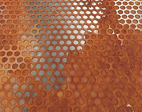 low-poly Weathered Honeycomb Plate 3D Model