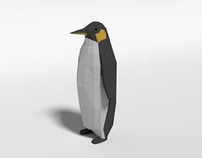 3D asset Low Poly Cartoon Penguin