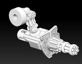 3D print model The GATLING CANNON Weapon set 5 Gladiator