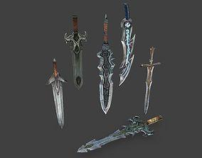 3D model Medieval Swords Pack 1