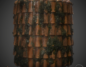 Mossy Roof Material 3D model