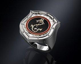 3D print model Ring shield whit anchor