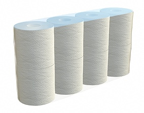 3D Toilet paper 8 pack large