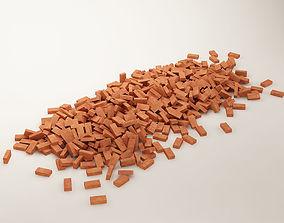 bricks 01 stack of bricks 3D