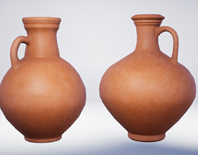 3D model Roman Terracotta Flagons - 2 Variations