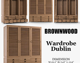 Wardrobe Dublin retro 3D