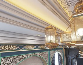 3D model islamic arabic moroccan ceiling light