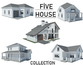 Five House Collection 3D model