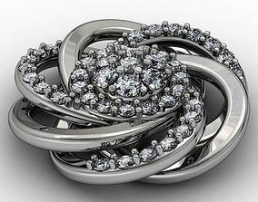 3D print model Twisted earrings