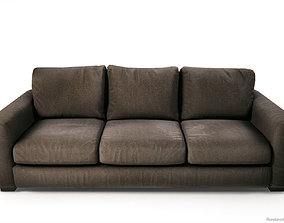3D model Fabric Sofas and Armchair PBR Game Ready