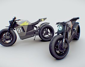 3D model motorcycle concept