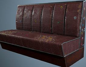 3D asset Retro Bar Sofa