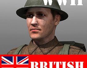 British Soldier and Lee Enfield 3D model